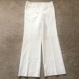 Trina Turk EUC White Stretch Wide Dress Pants 8